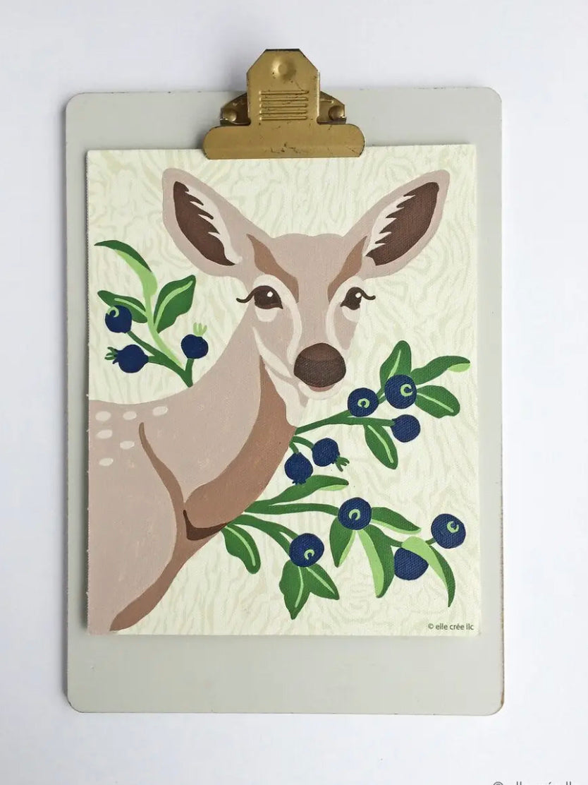 Deer with Huckleberries Paint-by-Number Kit