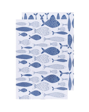 Fishes Floursack Dishtowels