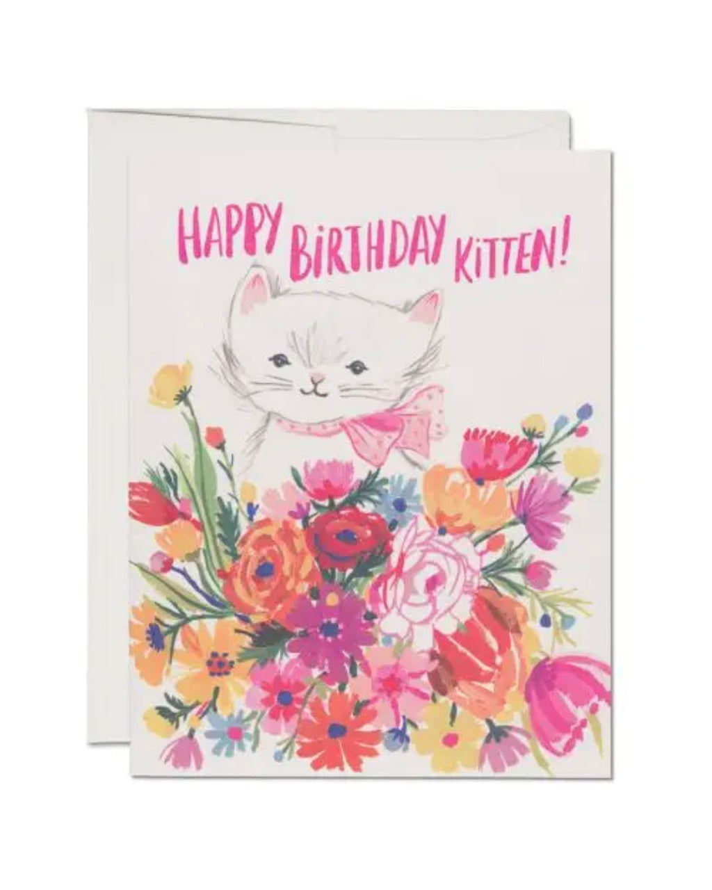 Happy Birthday Kitten Card