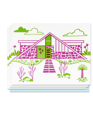 Mid Century House Letterpress Card Set