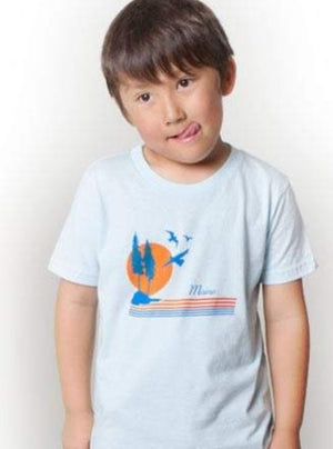 Kids Maine Sunset Tee