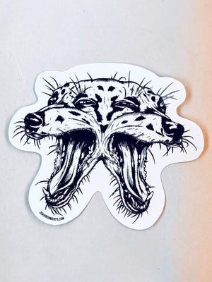 3 Eyed Dog Sticker