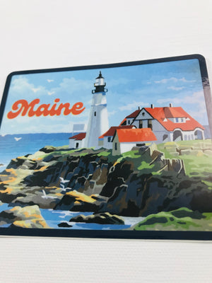 Maine Lighthouse Sticker
