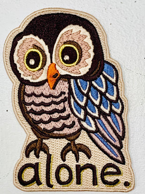 Alone Owl Embroidered Patch