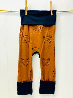 Mama Hen Grow with Me Pants (brown bear)