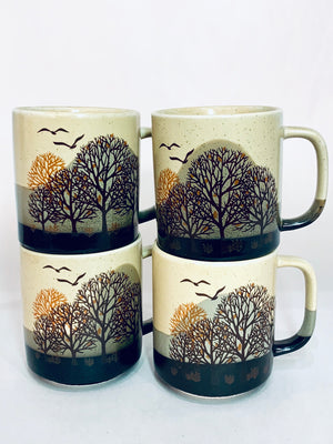 Fall Tree Mugs set of 4