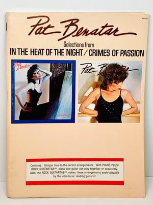 Pat Benatar Piano and Guitar Tab Book