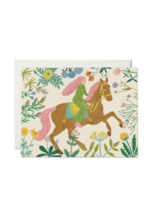 Horse & Child Card