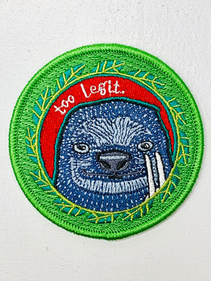 Too Legit Embroidered Patch