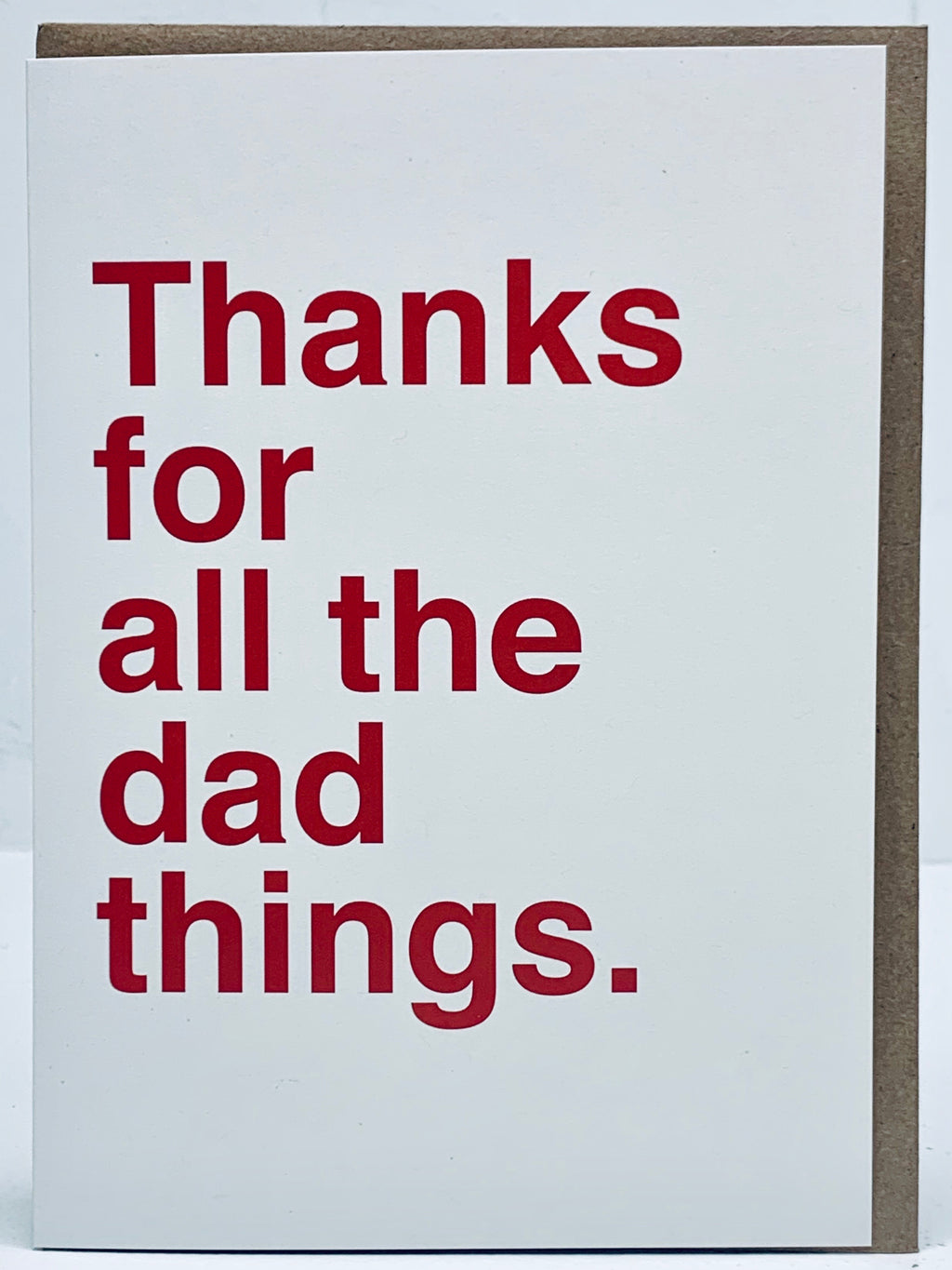 Thanks For All The Dad Things