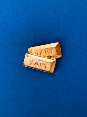 Vintage 24KT Gold Bars Pin