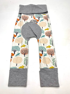 Mama Hen Grow with Me Pants (bunnies and squirrels)