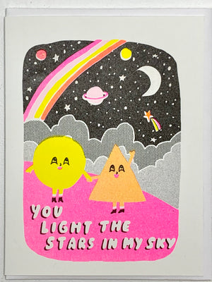 You Light The Stars Card