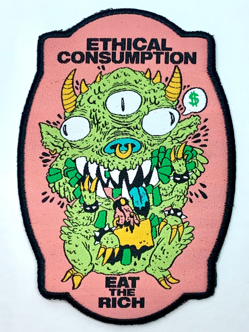 Eat The Rich Woven Patch
