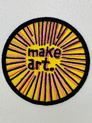 Make Art. Embroidered Patch