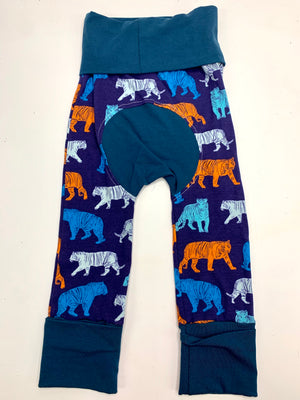 Mama Hen Grow with Me Pants (blue tiger)