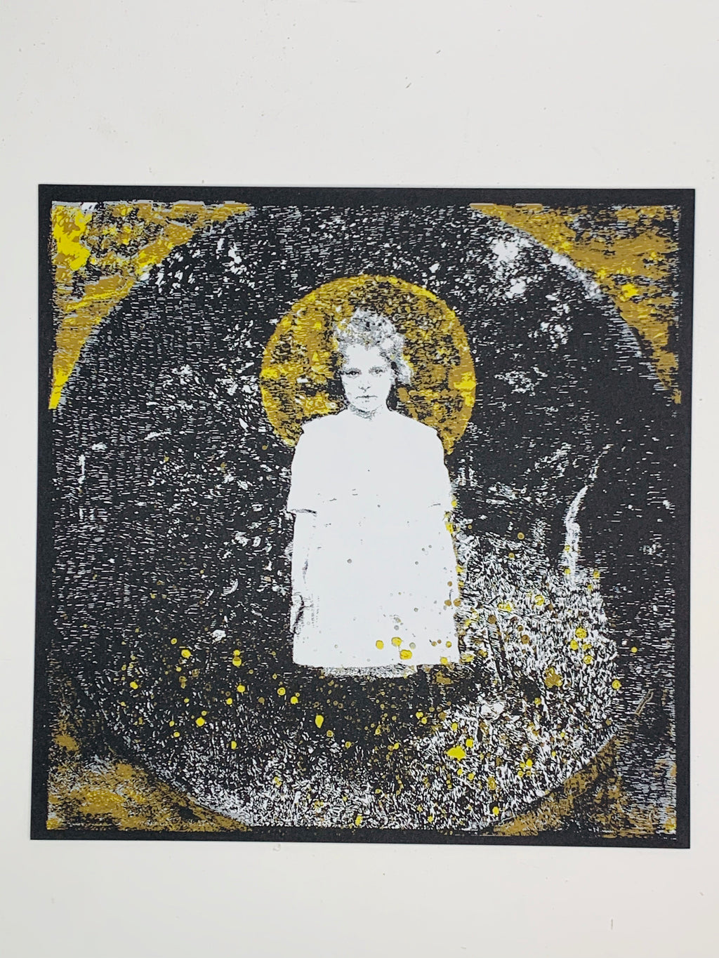 """Young Girl""12.5-12.5in Screen Print"