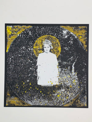 """Young Girl"" Screen Printed Art by Kris Johnsen"