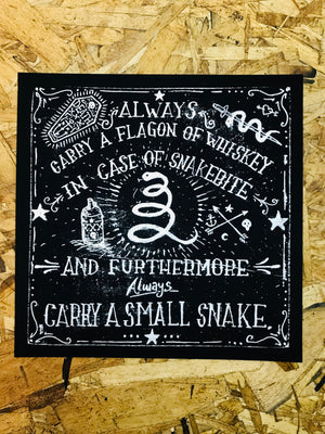 Whiskey And Snakes 8-8in Giclee Print