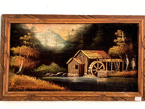 Cabin Black Velvet Art