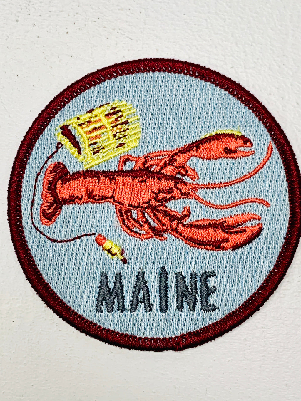 Maine Lobster Embroidered Patch