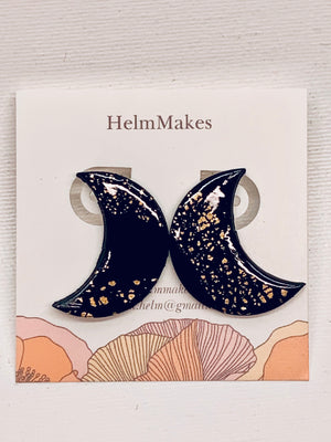 Helm Makes Earrings Crescent Moon