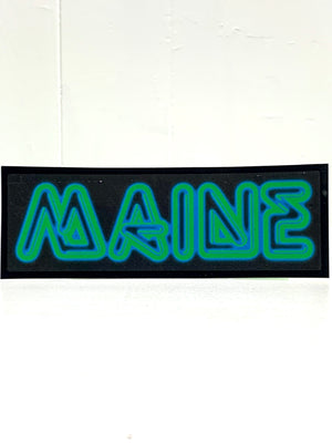 MAINE Neon Sign Vinyl Sticker