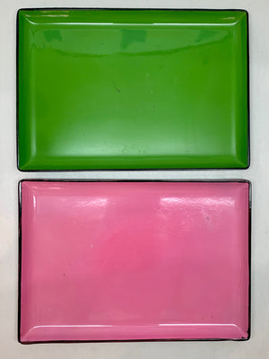 Set of 2 Cute Plastic Trays