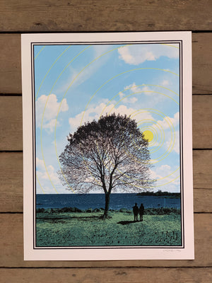 Tree and Couple 18-24in Screen Print by Kris Johnsen