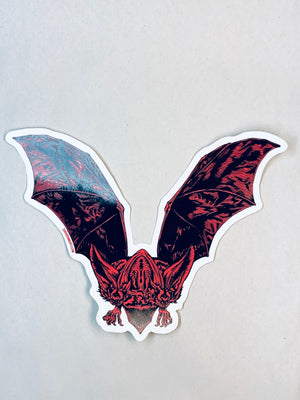 Red Bat Sticker