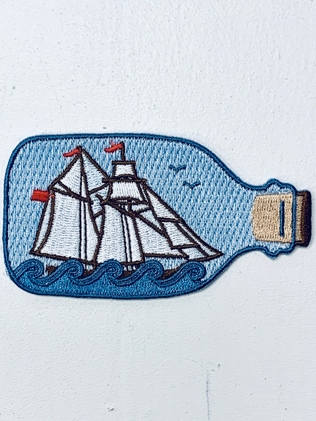 Ship in a Bottle Embroidered Patch