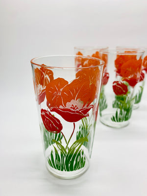 Set of 4 Vintage Juice Glasses