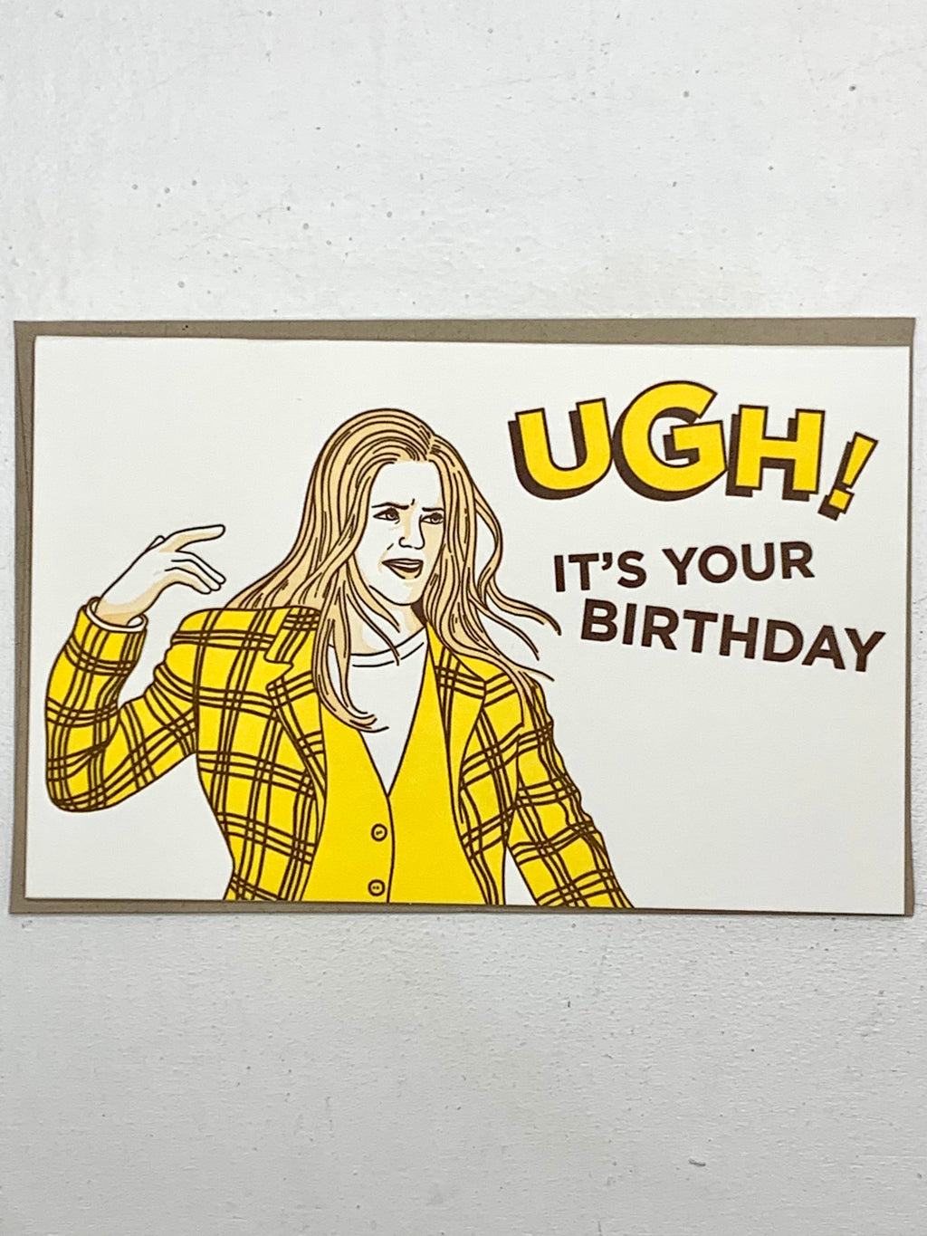 Ugh Birthday Card