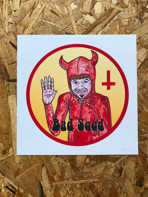 "Bad Seed 8"" by 8"" Giclee Print by Kris Johnsen"