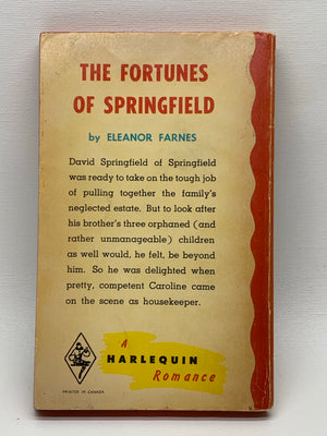 The Fortunes of Springfield Vintage Romance Paperback