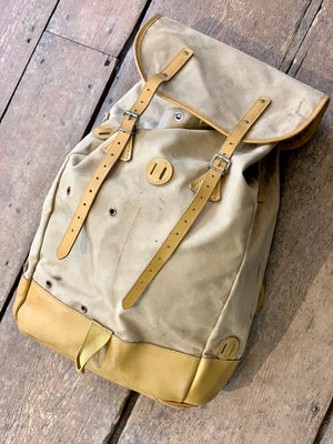 Vintage French Back Pack or Sac à Dos