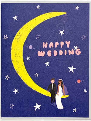 Moonlight Wedding Card