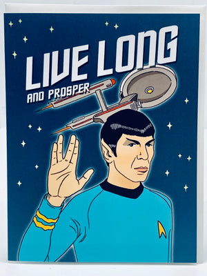 Live Long & Prosper Spock Card