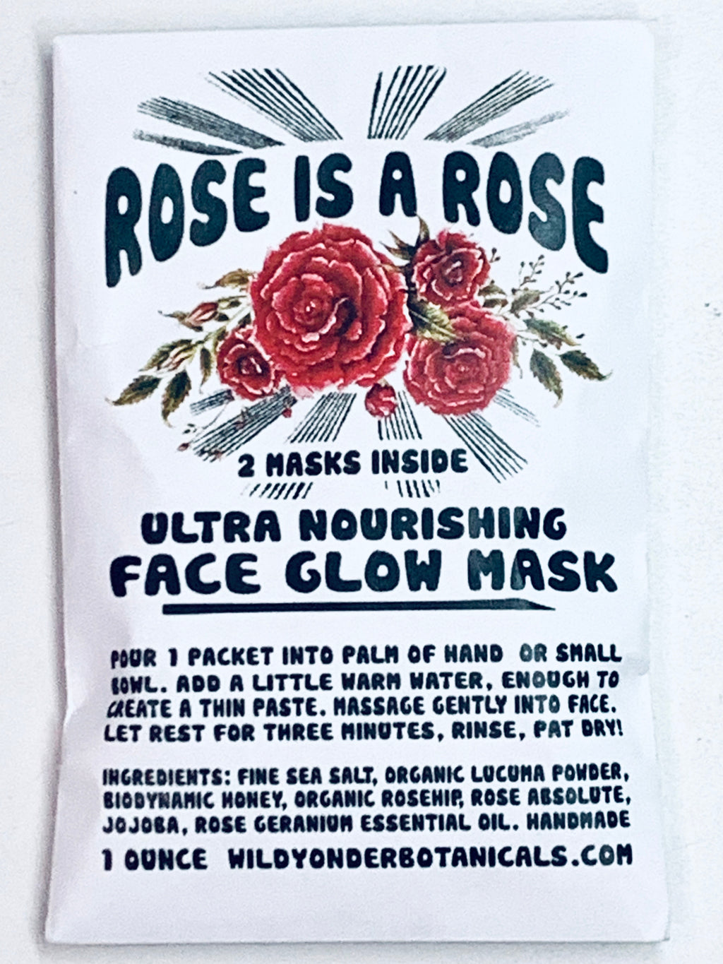 Rose is a Rose Ultra Nourishing Face Glow Mask