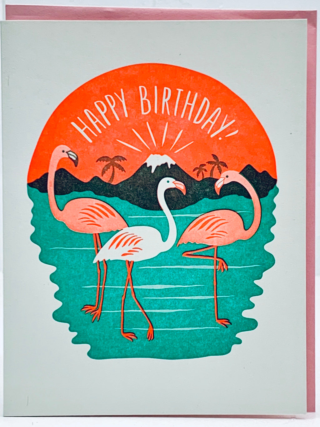 Happy Birthday Flamingo Card