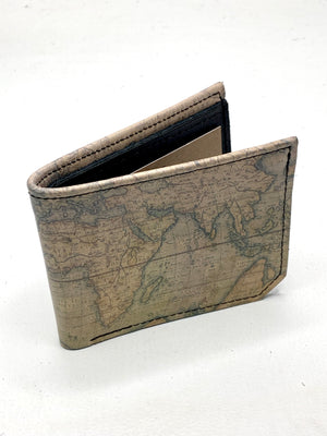 World Map Handmade Leather Wallet