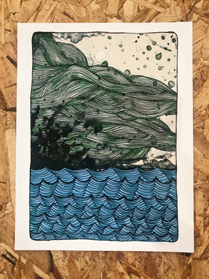 Waves And Sky 8.5-11in Giclee Print