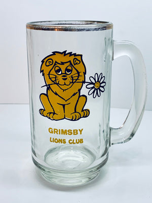 Grins by Lions Club Vintage Glass