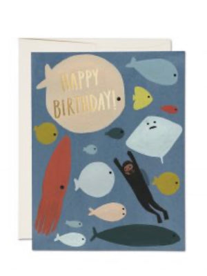 Scuba Birthday Card