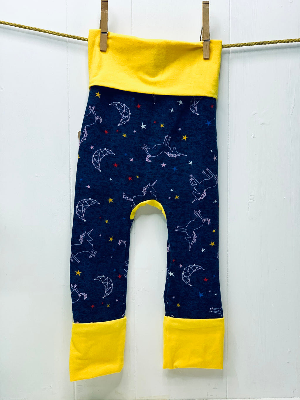 Mama Hen Grow with Me Pants (constellations)