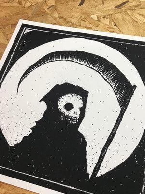 Death Skeleton 8-8in Giclee Print