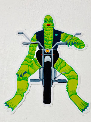 Creature Biker Sticker