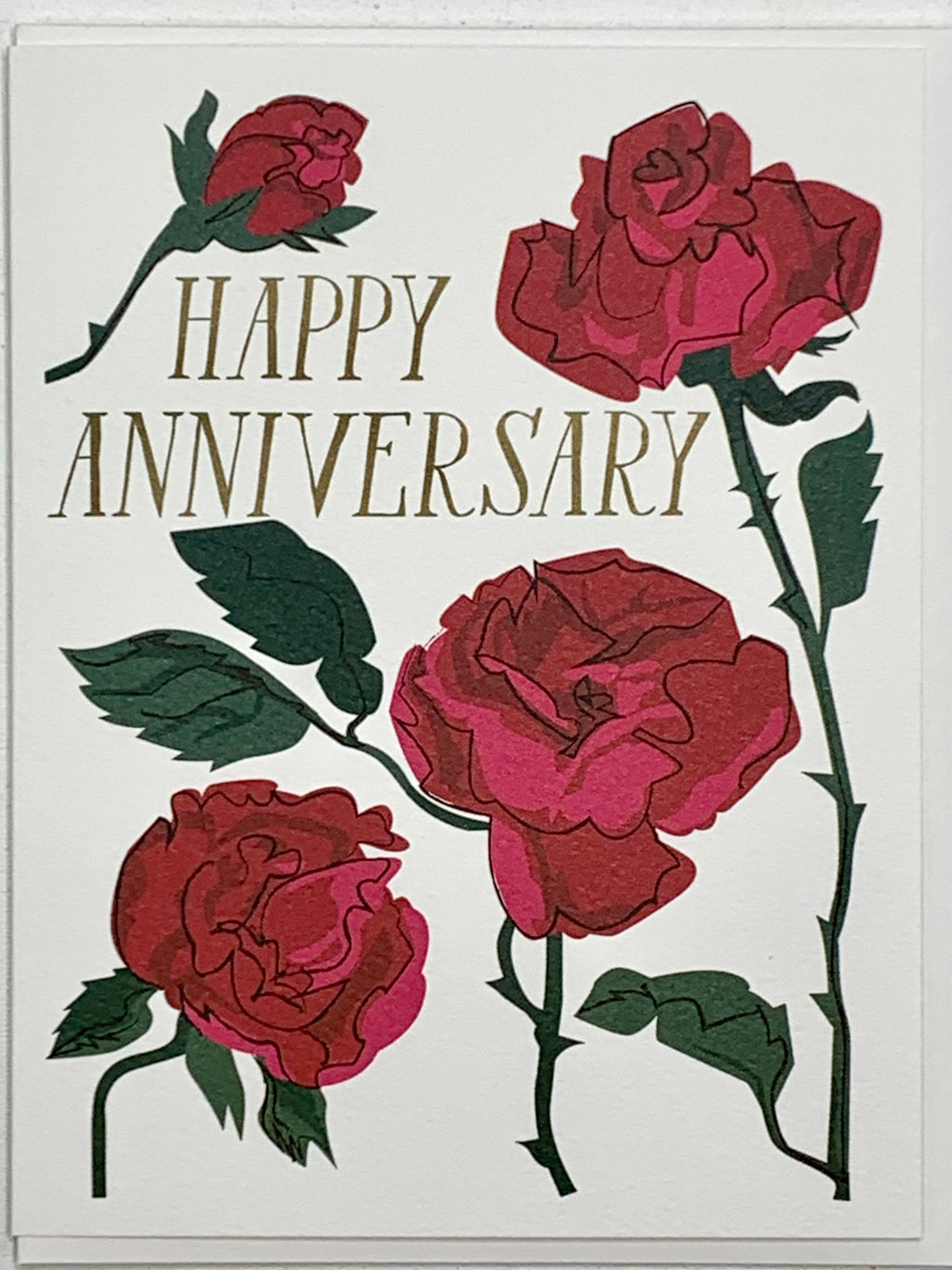 Rose Happy Anniversary Card
