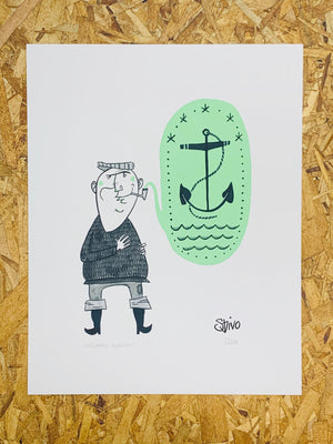 Anchors Aweigh! Print by Stivo