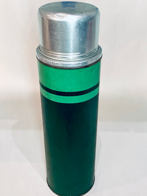 Old School Green Thermos